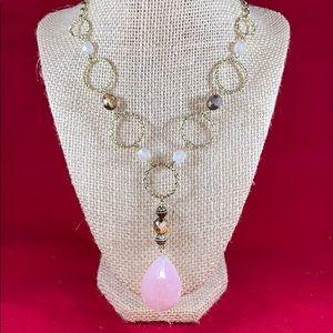 """Vintage Avon Pink Y necklace 19"""" long"""